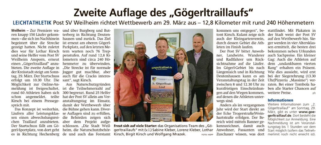 """Zweite Auflage des """"Gögerltraillaufs"""""""